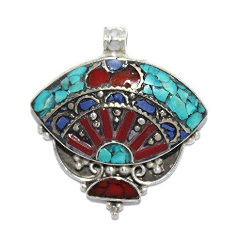 (Turquoise pendant Coral Pendant Lapis Pendant Tibetan pendant Silver Pendant PB265 )