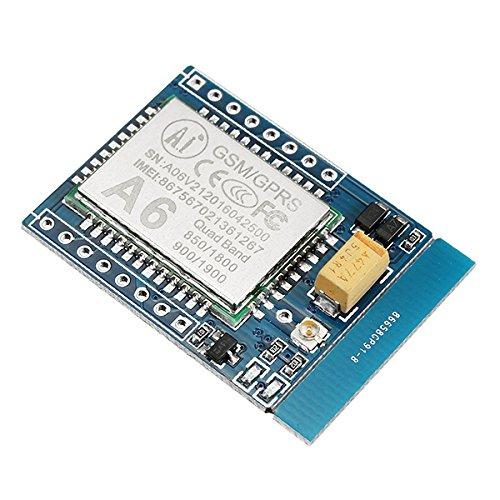 LaDicha 5Pcs Ga6 5V Mini Gprs/Gsm Módulo A6 Sms/Voz Junta De Desarrollo Fcc Ce Certificación Dtmf Tcp Apoyo 2G 3G 4G Tarjeta De Teléfono Móvil Con Transmisión De Datos Inalámbrica Sms Y Voz Función De