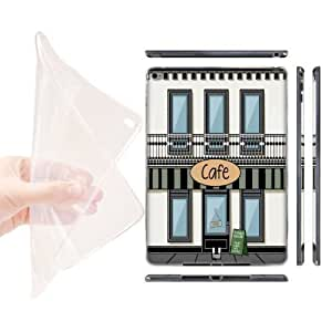 Head Case Designs Cafe Buildings Soft Gel Back Case Cover for Apple iPad Air 2