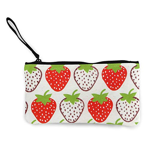 Oomato Canvas Coin Purse Red Strawberry Cosmetic Makeup Storage Wallet Clutch Purse Pencil Bag]()