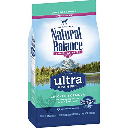 Natural Balance Small Breed Bites Dry Dog Food, Original Ultra Whole Body Health, Chicken, Chicken Meal, Duck Meal...