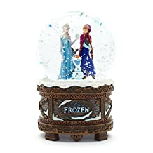 Disney Frozen Musical Snow Globe - Elsa, Anna and Olaf - VERY EXCLUSIVE. by Disney