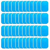 TOOGOO 40Pcs Abs Stimulator Trainer Replacement Gel Sheet Abdominal Toning Belt Muscle Toner Ab Trainer Accessories