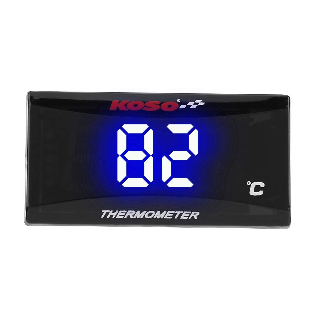 Universal Motorcycle Digital Thermometer Instrument Water Temp Gauge Temperature Meter Blue LED Light
