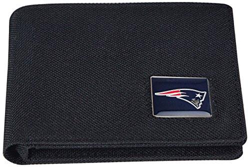 NFL New England Patriots Men's Nylon RFiD Safe Travel Wallet, 4.25 x 3.25