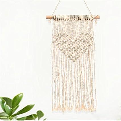 Amazon.com: Modern Incarnate Knitted Heart Tapestries- Handmade ...