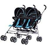 Dream On Me Twin Stroller, Dark Blue