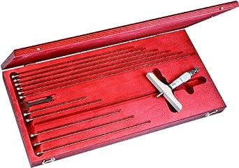 Starrett 440, 445 Vernier Depth Gauges, Ratchet Stop, Lock Nut, Micrometer Type, Inch