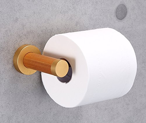 YuanDa Toilet Paper Holder Made of Ecological Wood Tissue Holder with Metal Core Wooden Appearance by YuanDa (Image #1)