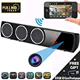 Hidden Camera 1080P WIFI HD Spy Bluetooth Speaker Wireless Mini Camera APP 24 Hours Real-time Monitoring, Black