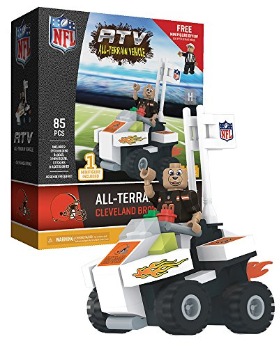 Nfl Room Browns Locker (Cleveland Browns NFL 4 Wheel ATV with Mascot OYO Mini Figure)