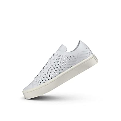 pretty nice b3032 4d475 adidas Originals Womens Courtvantage Cutout W Ftwwht and Cwhite Leather  Sneakers - 8 UKIndia (42 EU) Buy Online at Low Prices in India - Amazon.in