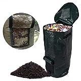 1 Pc Compost Bag Ferment Kitchen Waste Disposal Homemade Organic Compost Bag Kitchen Garden Litter Storage,2 Sizes Optional Size 17.7 x 31.5inch