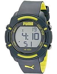Unisex PU911221003 Bytes Digital Display Analog Quartz Grey Watch
