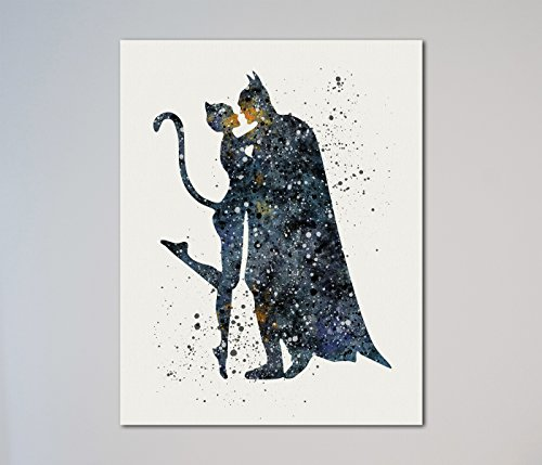 Catwoman and Batman 11 x 14 inches -