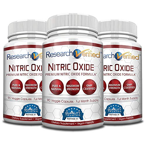 Research Verified Nitric Oxide - With L-Arginine and L-Citrulline - Premium Muscle Building Nitric Oxide Booster - 3 Months Supply … -  RVNO2-3