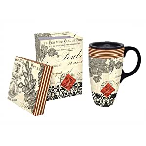World Travel Ceramic Latte Travel Cup With Gift Box