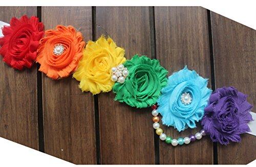 Original design rainbow materinity sash pregancy sash for baby shower (Classic rainbow)