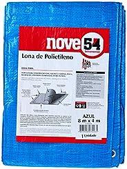 Lona De Polietileno Azul 8 M X 4 M Nove54 Nove 54