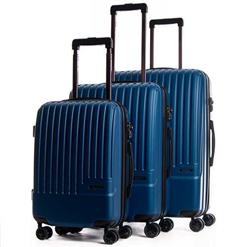 CALPAK Davis Expandable Luggage Set, Blue by CalPak