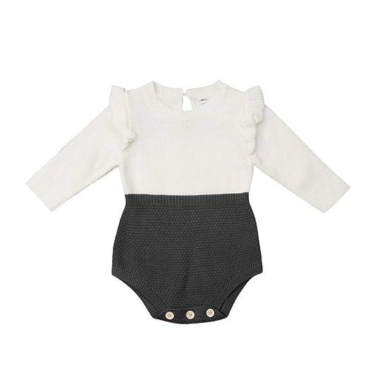 c91116f3a133 Amazon.com  NICECLOULD 0-24M Newborn Baby Kids Girls Infant Knitting ...