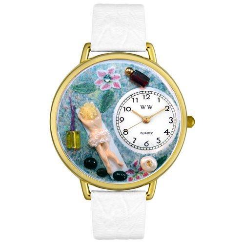 Massage Therapist Watch in Gold (Unisex) - White Watchband - Therapist Unisex Watch