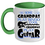 Cool Grandpas Play Guitar Coffee Mug, Some Grandpas Play Bingo Accent Mug (Accent Mug - Green)