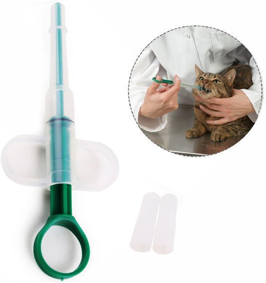 Xrten Jeringa de Silicona con Dedo Anillos Alimentación Medicamentos para Pastillas, Cápsulas para Mascotas