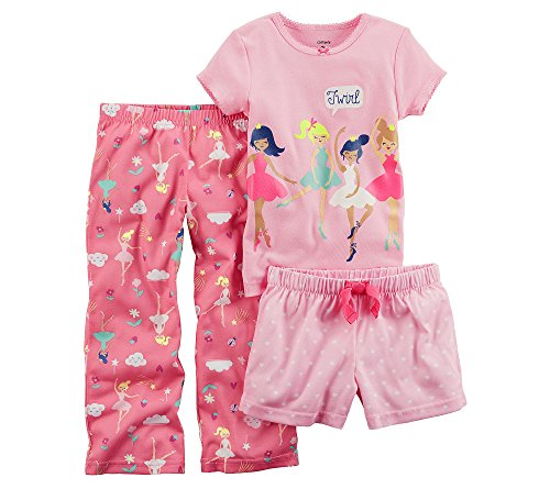 Carter's Baby Girls' 3 Piece Ballerina Jersey Pjs - Pajamas Ballerina