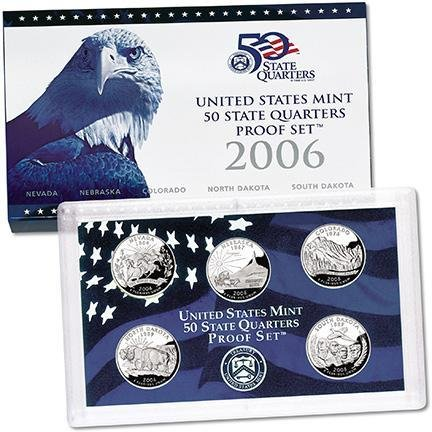 2006-S 50 STATE QUARTERS PROOF SET - 5 - 50 2006 Quarters State