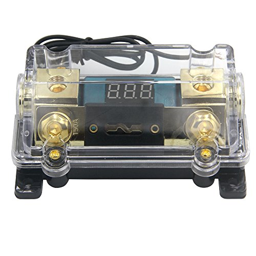 ZOOKOTO 150A Fuse Holder,Car Stereo Audio Led Display Digital Voltage Inline ANL Fuse Holder 0 2 4 Gauge in out with 150 Amp Fuse by ZOOKOTO (Image #4)