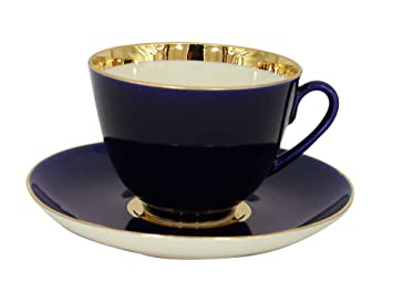 Lomonosov Porcelain Tea Set Cup and Saucer Spring Night 7.8 oz/230 ml