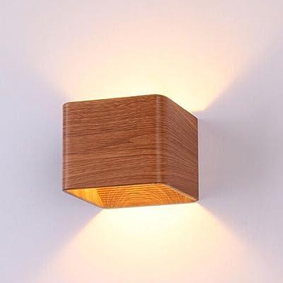 5W Lumières murales LED,Homeself Lampe LED moderne pour chambre à coucher, salon et cuisine (blanc chaud)