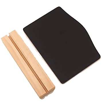 Double-sided Tabletop Wooden Blackboard Memo Sign Message Small Note Chalk Board
