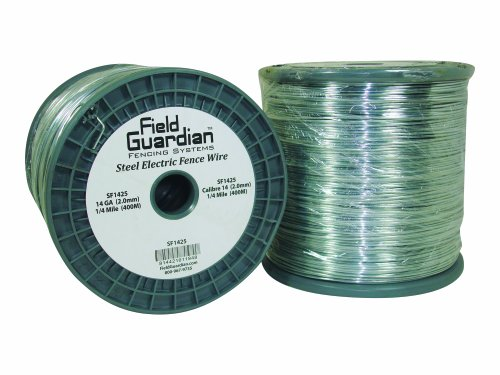 Field Guardian 14-Guage Galvanized Steel Wire, 1/4 Miles (Tensile High Wire Fencing Electric)