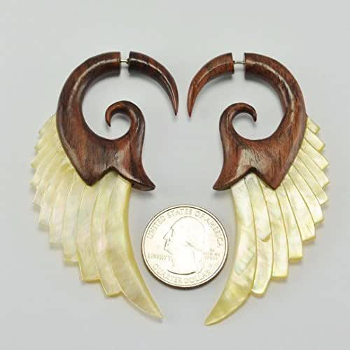 Mother Of Pearl Left Angel Wing Decor: Amazon.com: Angel Shell Wings