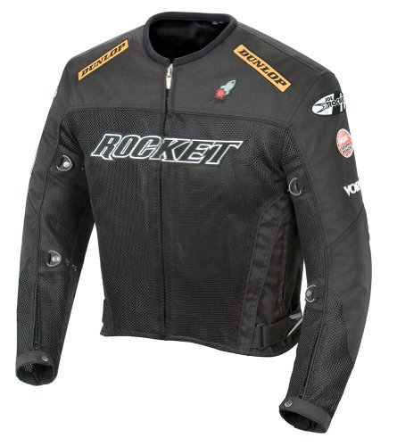 - Joe Rocket UFO 2.0 Textile Mesh Motorcycle Jacket X-Large (Size 44) Black