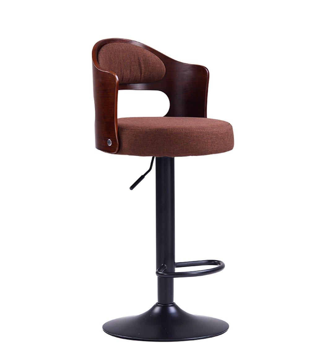 E C-J-Xin Household Bar Chair, Solid Wood Backrest Lift redate High Stool Bar Stool Cash Register Backrest Bar Chair 40  86CM Novel Style (color   E)