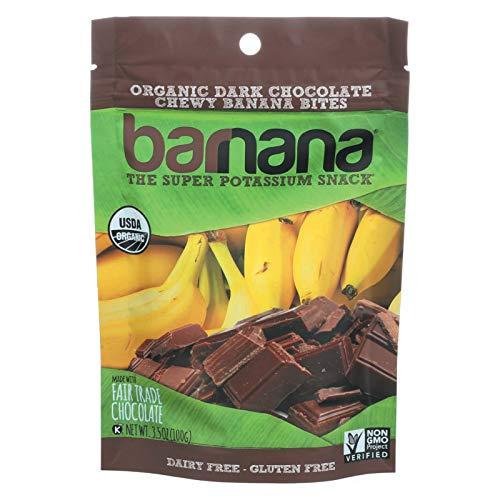 Barnana Organic Chocolate Chewy Banana Bites, 3.5 Ounce - 12 per case. by Barnana (Image #1)