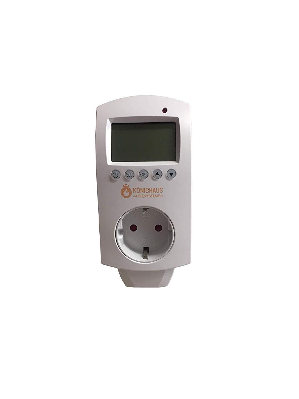K/önighaus Calefacci/ón por infrarrojos para exteriores con certificaci/ón T/ÜV y GS, m/ás de 200 im/ágenes opcionales, con termostato y termostato inteligente, contador de vatios: 300//450//600//800//2479
