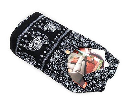 Hippie Sling Cotton Tote Elephant Thai Summer Bag Kraft4Life Gift Parade Christmas Crossbody Hobo EwqpnIC