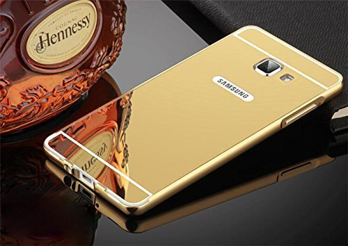 quality design 4c59d b983c Johra Gold Golden Acrylic Mirror Back Cover Case with Bumper Case ...