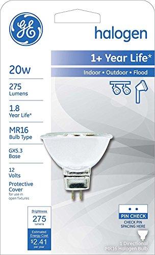 (CASE OF 15) GE Lighting 81763 20-Watt Halogen MR16 Flood Light Bulb, 15-Pack (Bulb Case Pack 15)