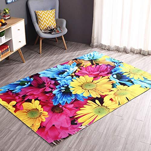 Chad Hope Living Room Carpets Kitchen Rugs Bathroom Hallway Bedroom Floor Mats 3D Pattern Area Rugs Anti-Slip Pads ()