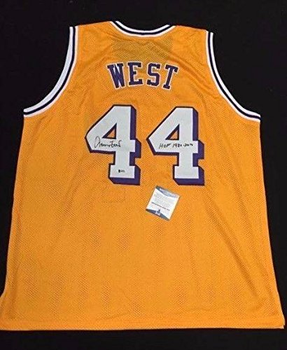 Jerry West Signed Los Angeles Lakers Basketball Jersey