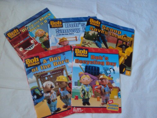 Bob the Builder Storybooks: Bob's Snowy Day; Dizzy and Muck Work It Out; Scoop Saves the Day; Bob's Recycling Day; a Day At the Barn (Children Book Sets : Kindergarten - Grade 1) (Bob The Builder Scoop Saves The Day)
