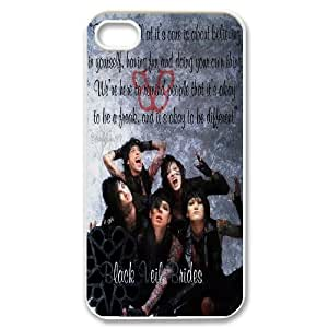Custom High Quality WUCHAOGUI Phone case BVB - Black Veil Brides Music Band Protective Case For Iphone 4 4S case cover - Case-10 Kimberly Kurzendoerfer