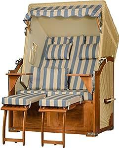 Premium caoba playa mar Visión beige Azul de PE de ratán