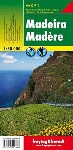 Madeira (Hiking, Cycling and Leisure)- WKP1 1:30K FB (Portugal) (English, French and German Edition)