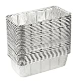 Disposable Loaf Pan – 30-Piece 2-LB Cooking Tins, Rectangular Aluminum Foil Pans for Baking, Roasting, Broiling, Cooking, Cakes, Bread, Lasagna, 8.5 x 2.5 x 4.5 inches Review